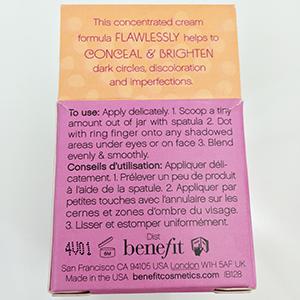 Benefit Erase Paste Packaging Back