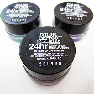 Maybelline Color Tattoo Pots Tops